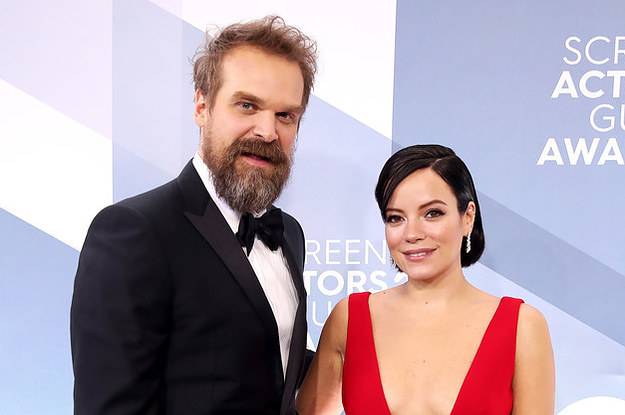 """David Harbour Says Becoming A Stepfather To Lily Allen's Children Taught Him The """"Meaning Of Life,"""" And I'm Not Not Crying"""