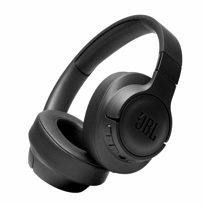 Black JBL noise cancelling headphones