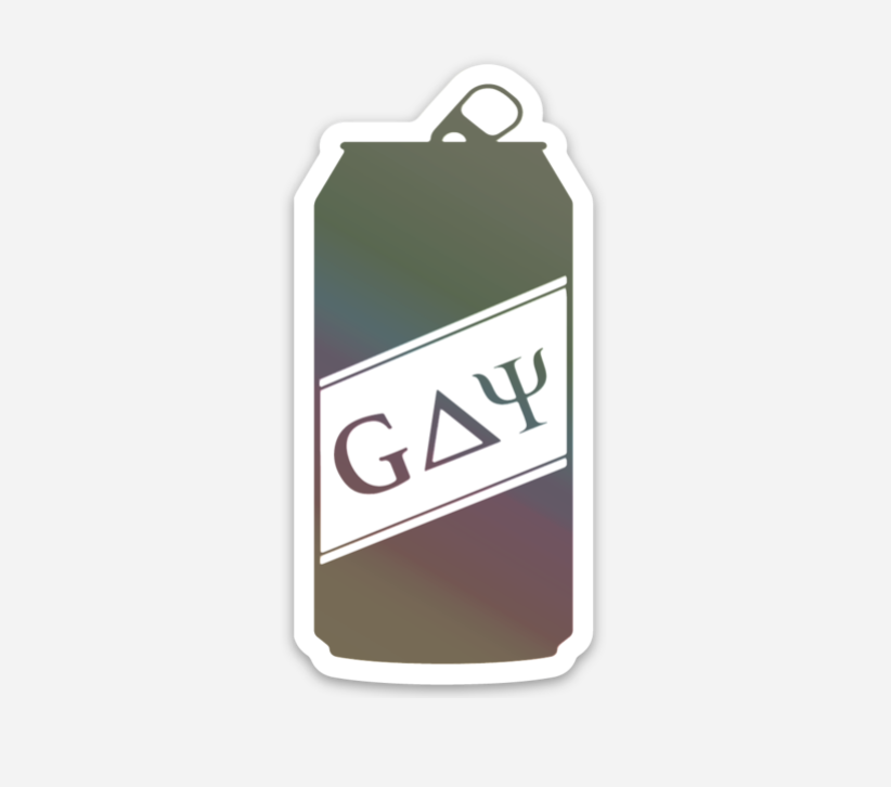 the gay frat holographic sticker