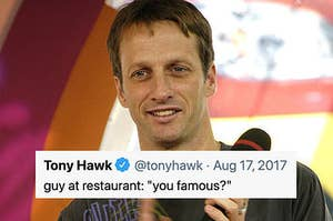 tony hawk with a you famous tweet
