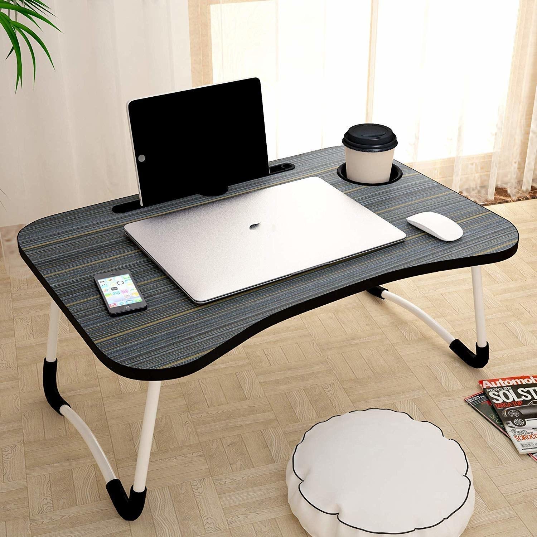Brown Multipurpose portable laptop desk