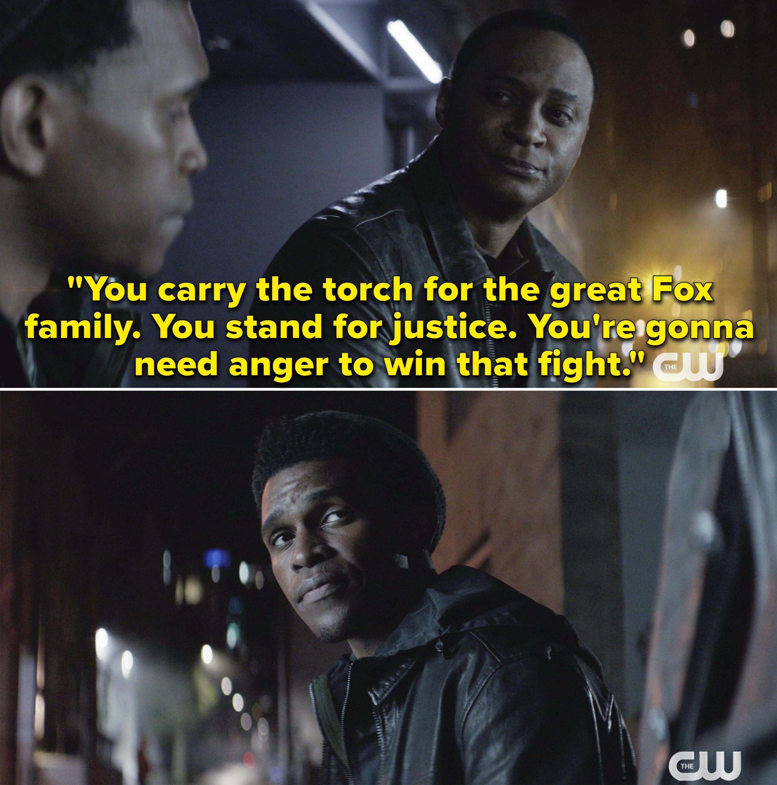 """Diggle telling Luke it's his job to carry on the Fox name and his anger will """"win that fight"""" for justice"""