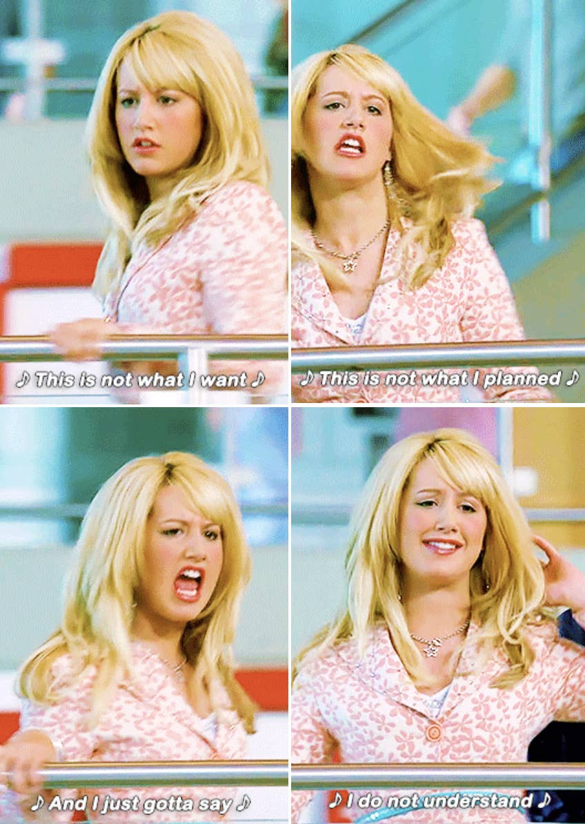 Sharpay was the best character in the High School Musical series and made us all think about what was going on.