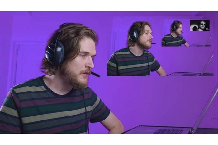 Bo reacts to a video of him reacting to a video of him reacting to a video of him reacting to a video