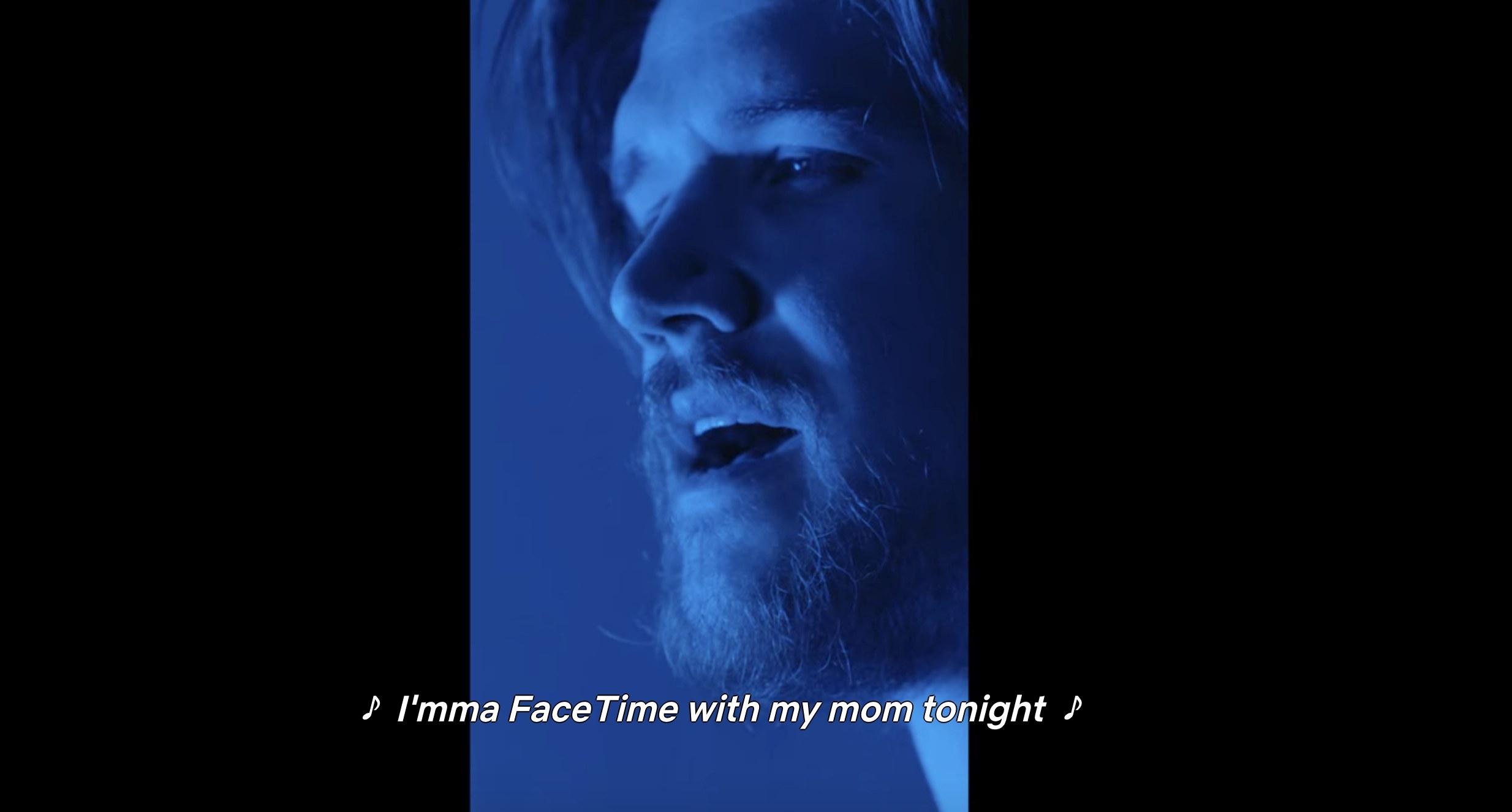 "Bo Burnham sings ""I'mma FaceTime with my mom tonight"""
