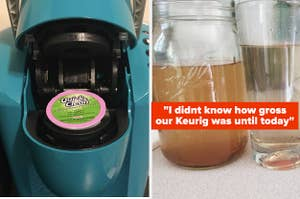 reviewer image of cleaning K-cup placed inside Keurig