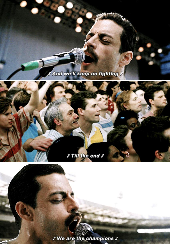 Freddie singing at the Live Aid concert