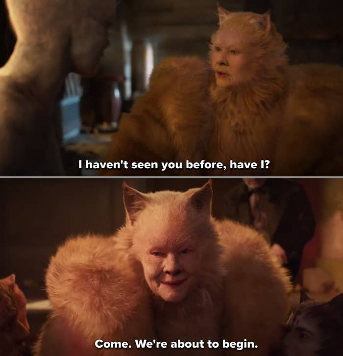 """Judi Dench as a cat in """"Cats"""""""