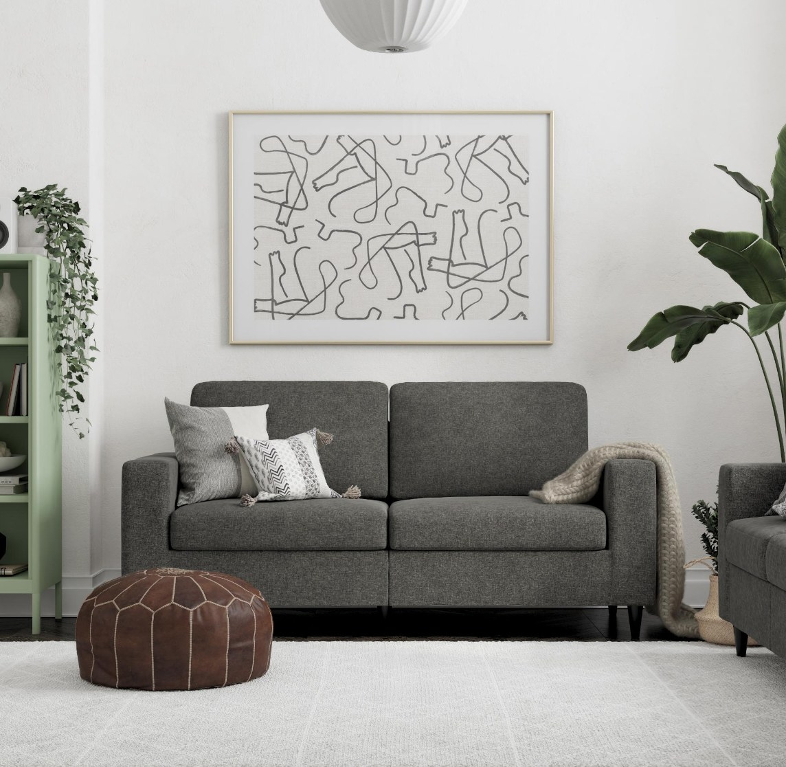 the cooper sofa in gray linen