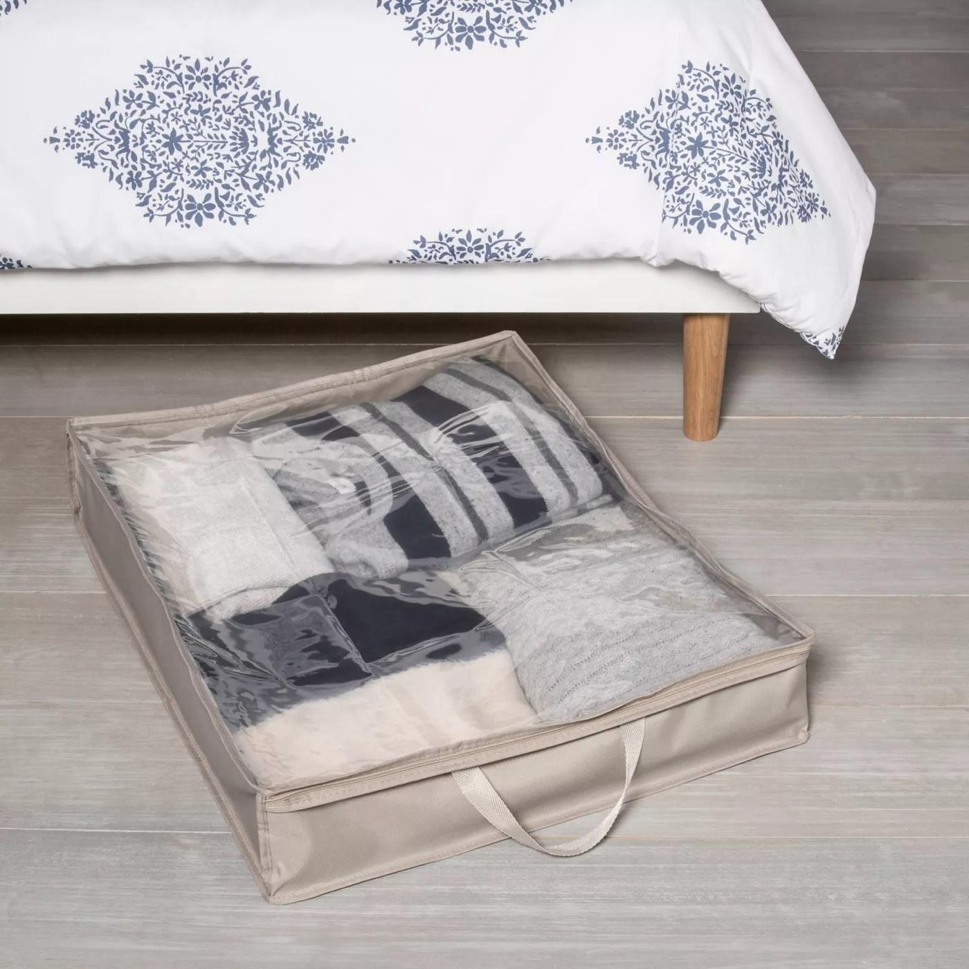 An under-bed-storage bag