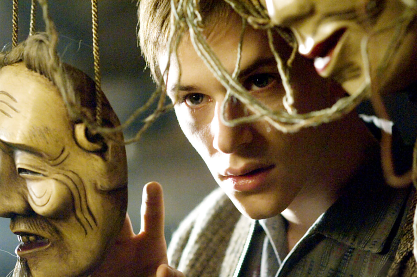 Gaspard Ulliel with an old mask