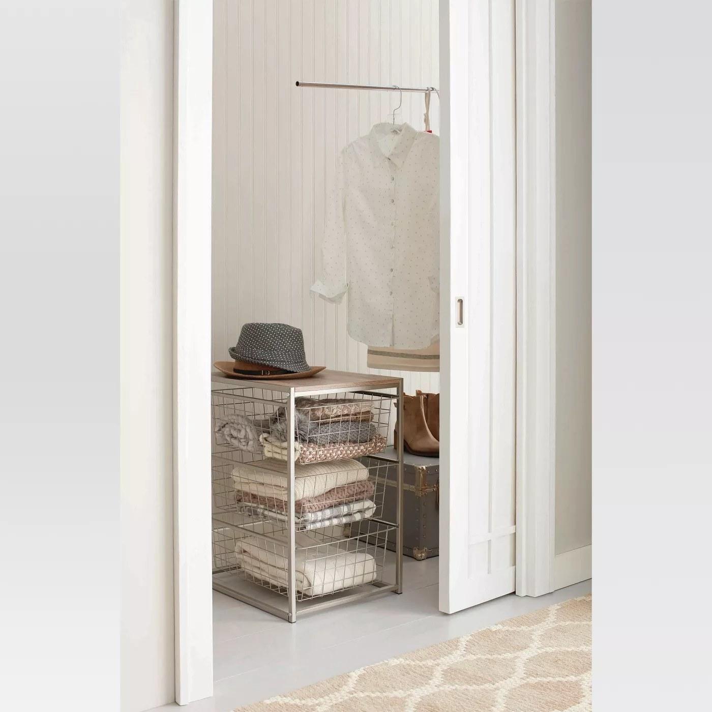 A closet organizer