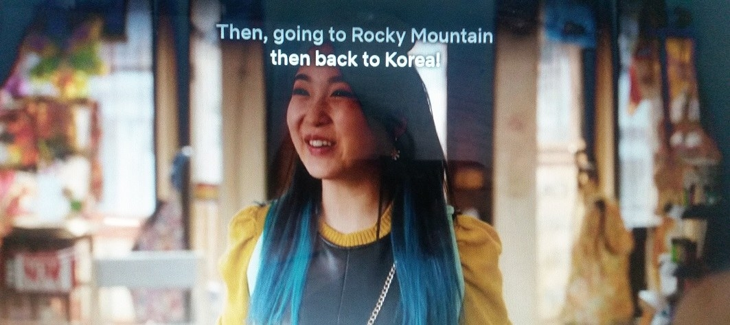 Nayoung is happy and excited while she talks about her Rocky Mountain trip