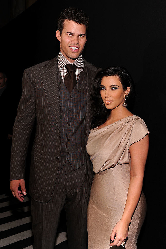 Kris Humphries (L) and Kim Kardashian attend A Night of Style & Glamour