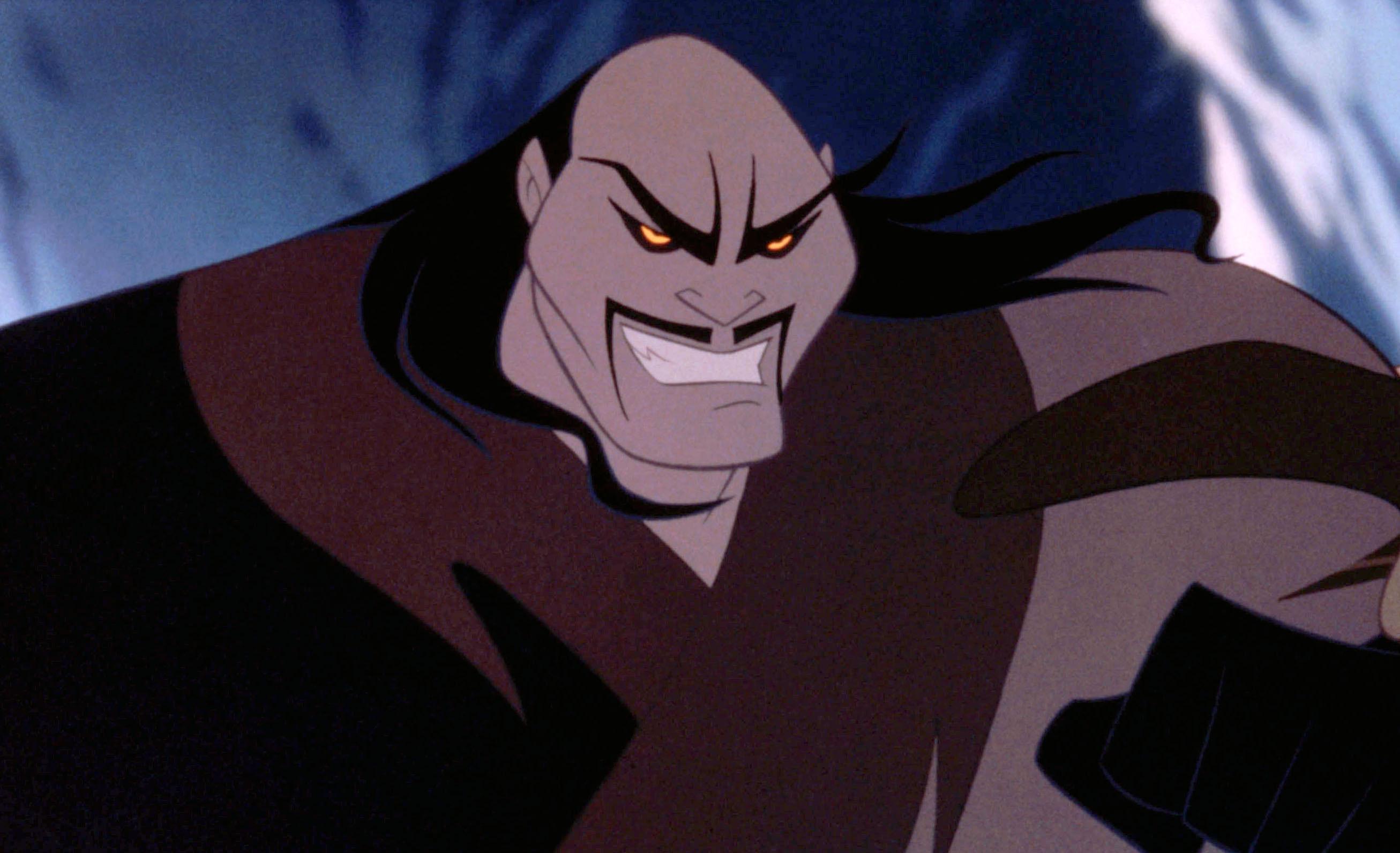 Shan-Yu with an evil grin