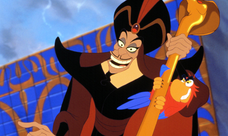 Jafar and Iago look up menacingly