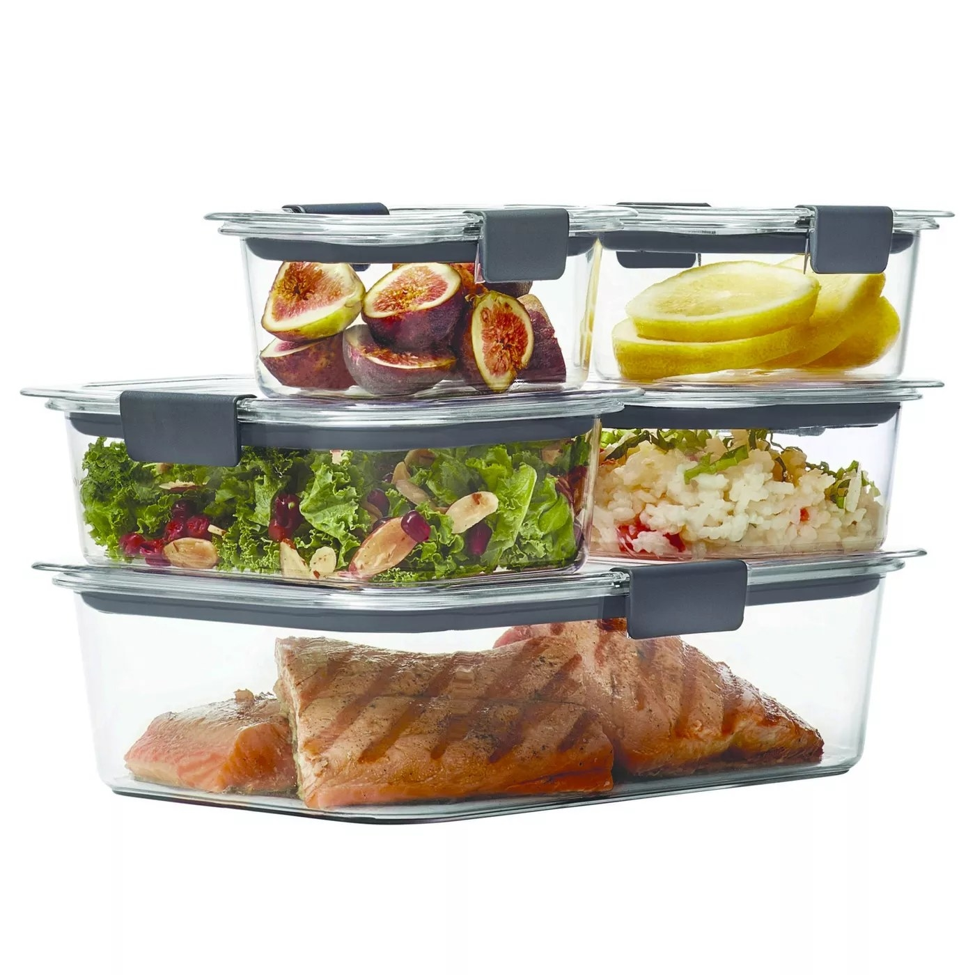 Set of food storage containers