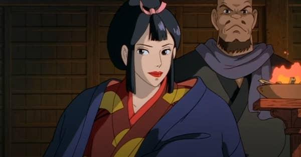 A Japanese aristocratic lady in kimono