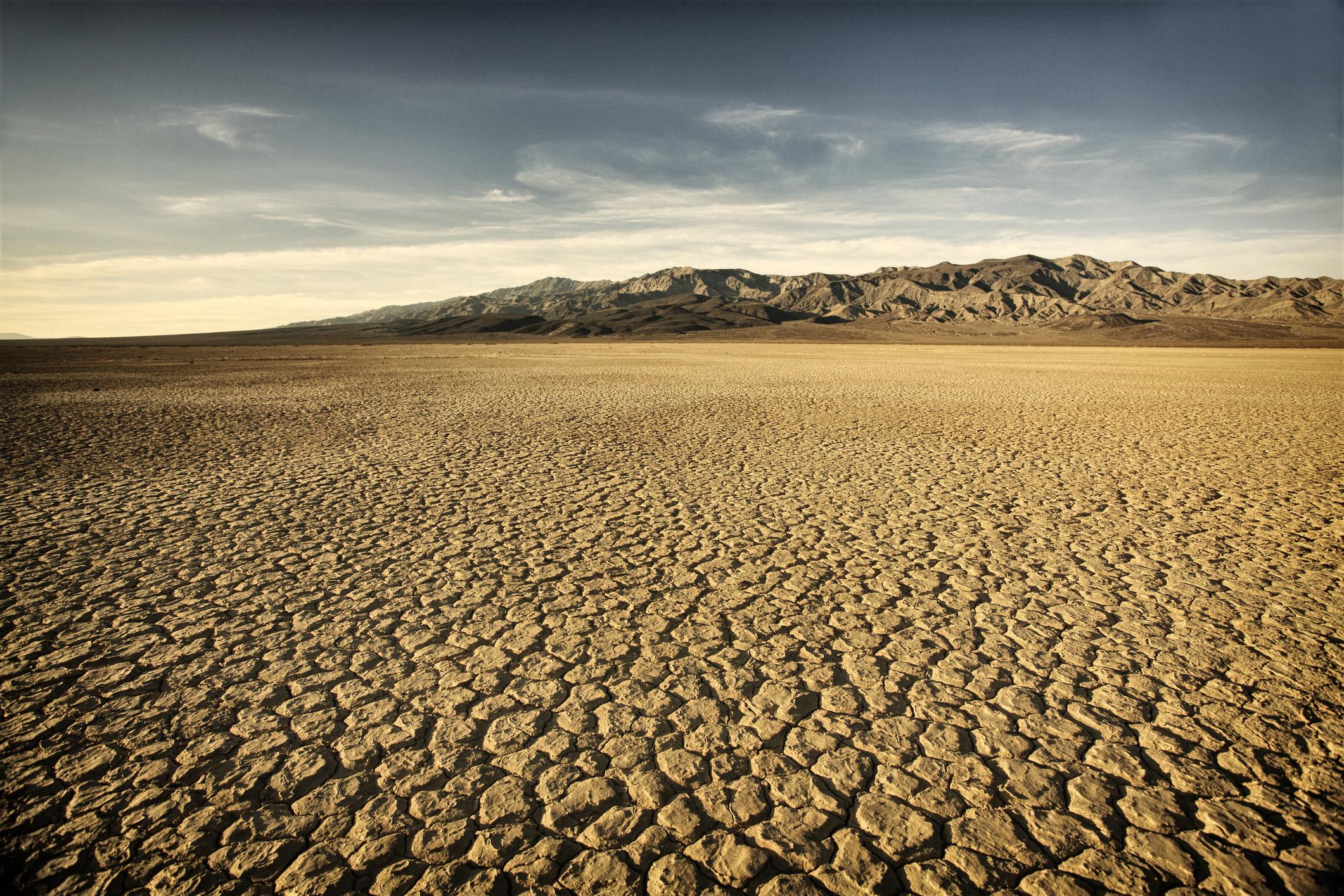 Dry, cracked desert ground