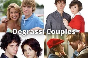 Degrassi Couples: in this image you can see Emma and Peter, Eli and Clare, Craig and Ashley, Spinner and Manny
