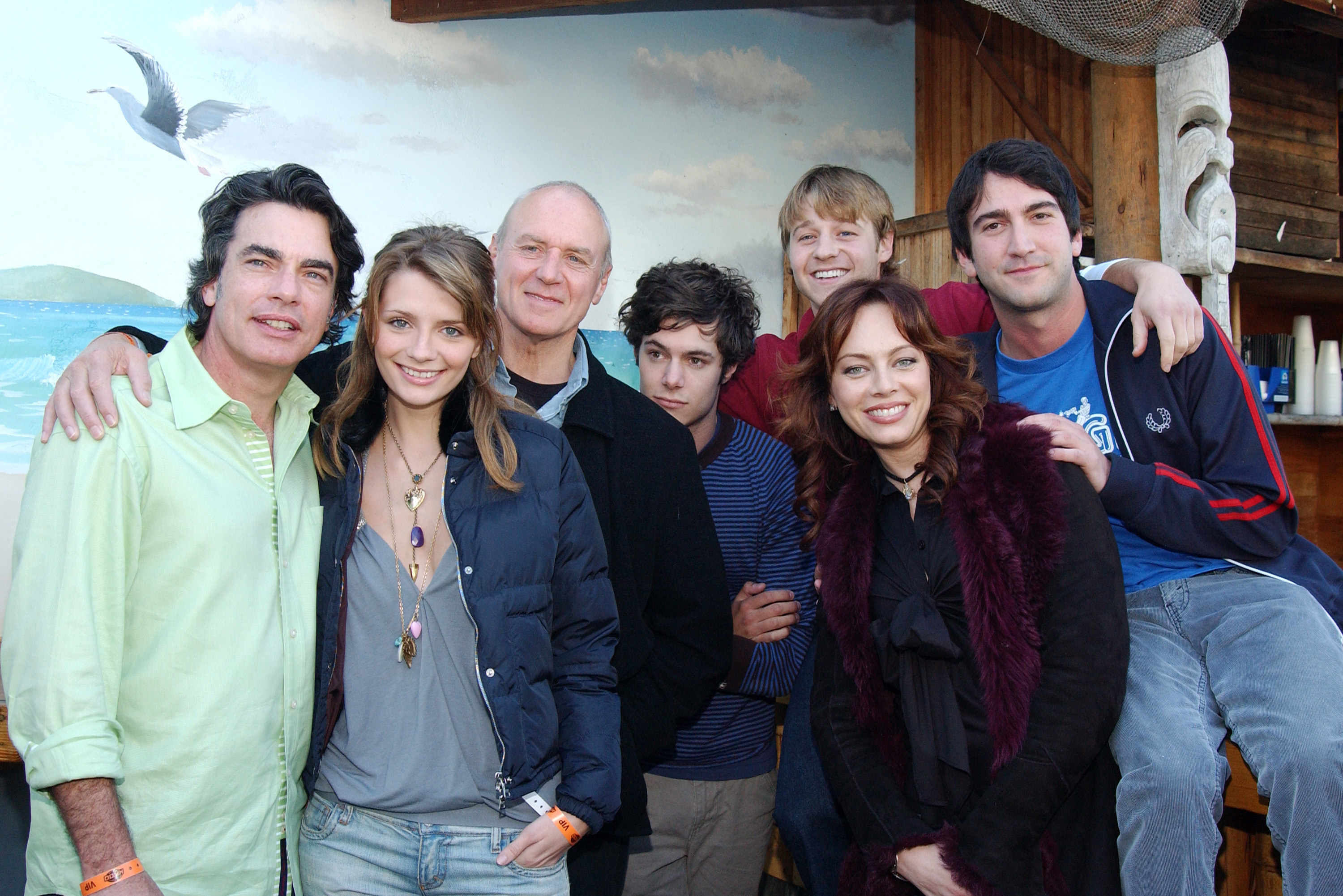Some of the O.C. cast poses for a group photo