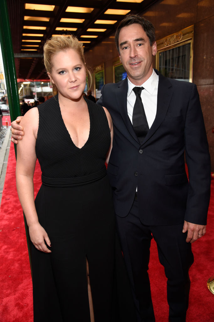 Amy Schumer (L) and Chris Fischer attend the 72nd Annual Tony Awards