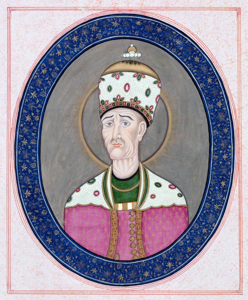 A mosaic ofAgha Mohammad Khan Qajar