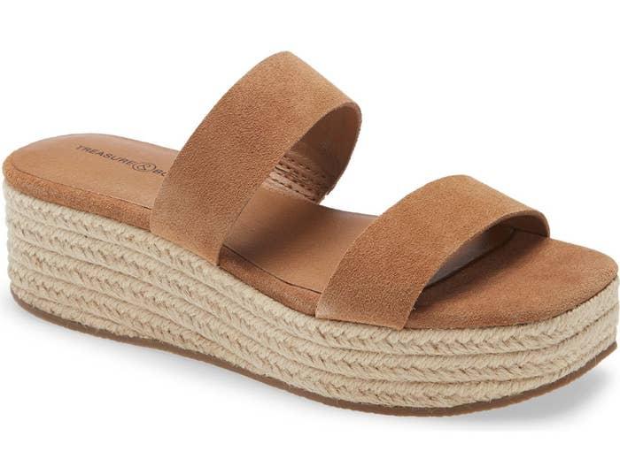 the brown platform sandals