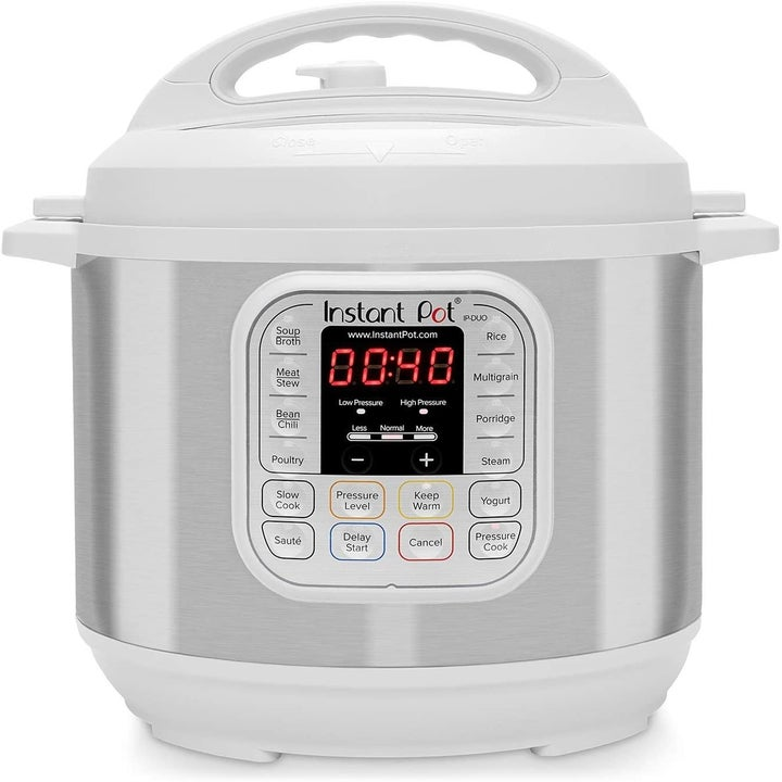 The Instant Pot in the color White