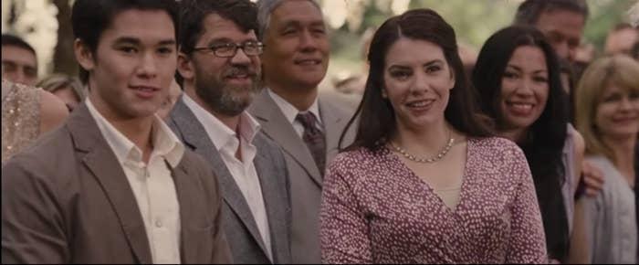 Stephanie Meyer as a wedding guest