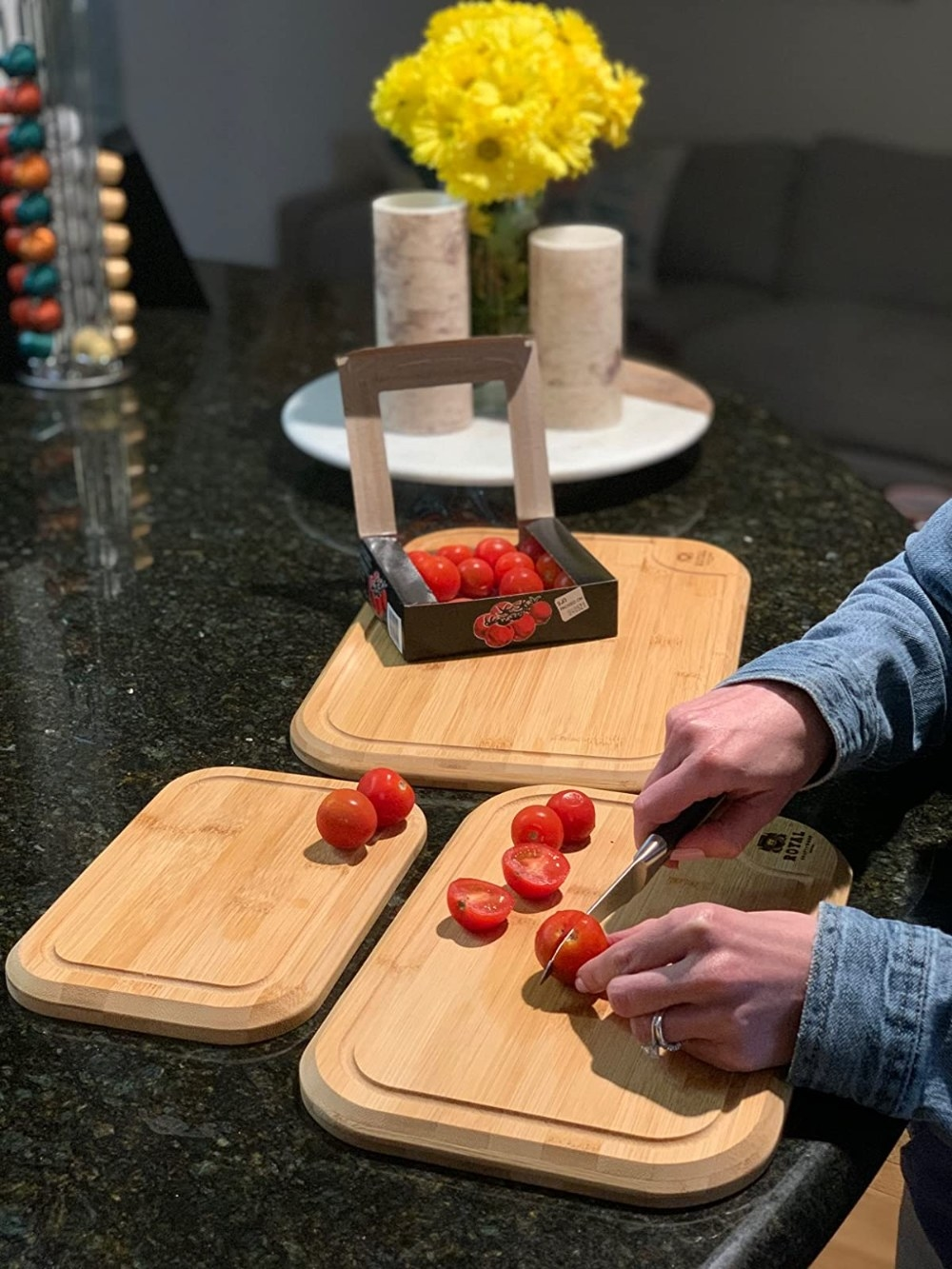Reviewer's photo of the cutting boards
