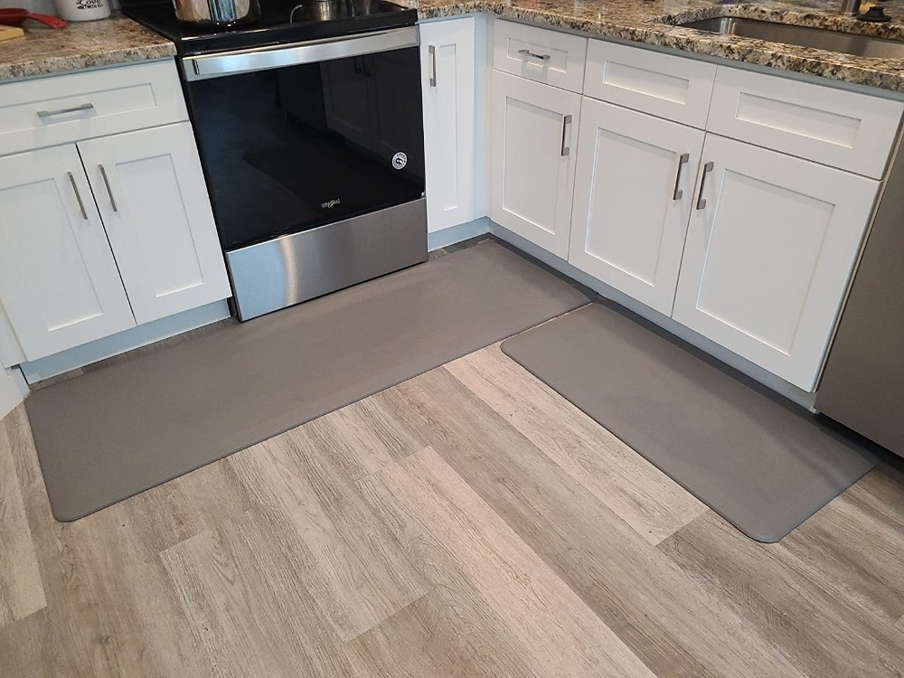 Reviewer's photo of the kitchen mats
