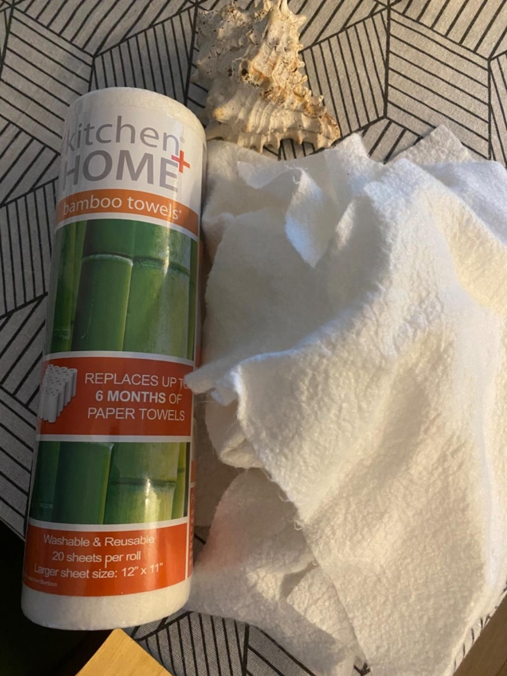 Reviewer's photo of the bamboo towels