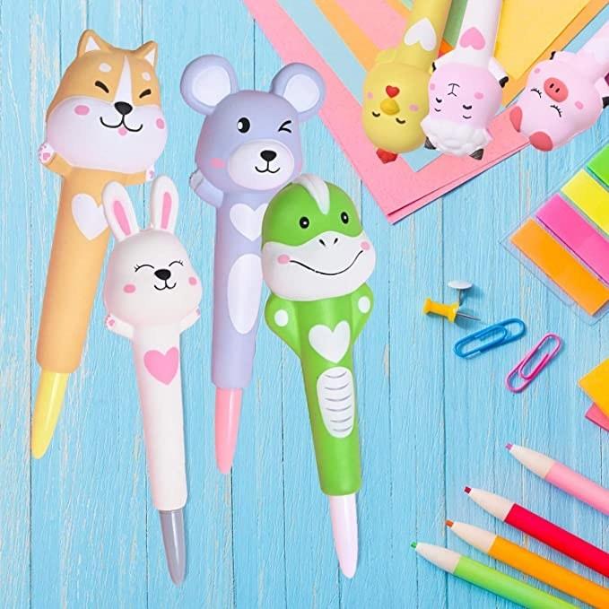 the cartoon gel pens
