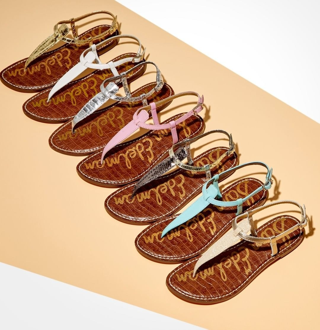 the thong sandals in seven different colors