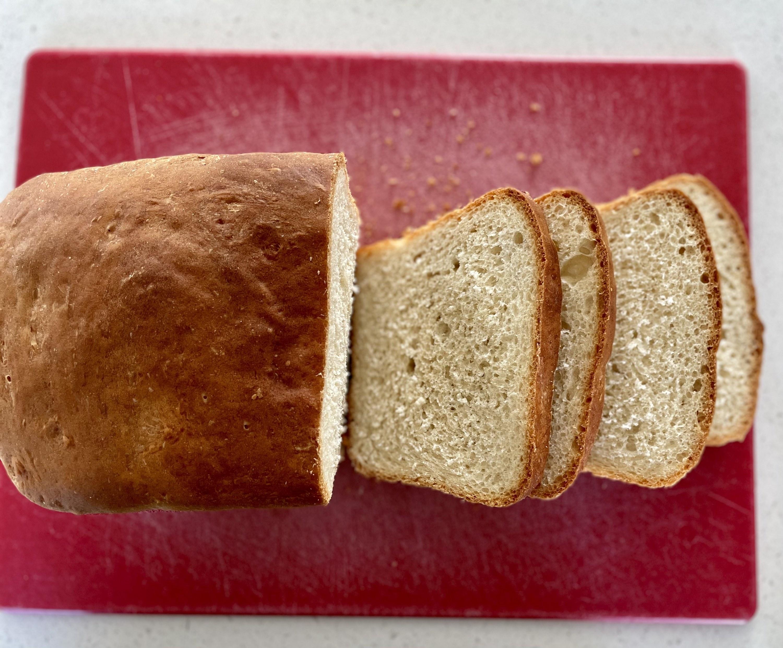 Sliced baked dough