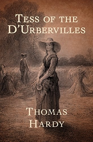 A woman in a dress standing in a field on the cover of Tess of the D'Urbervilles