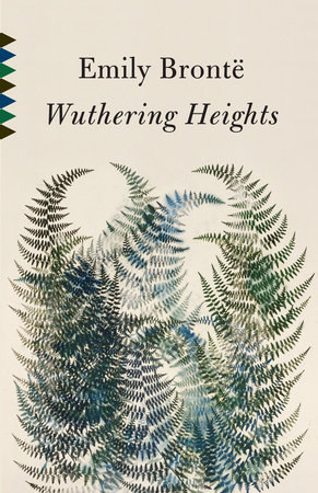 Overlapping ferns on the cover of Wuthering Heights