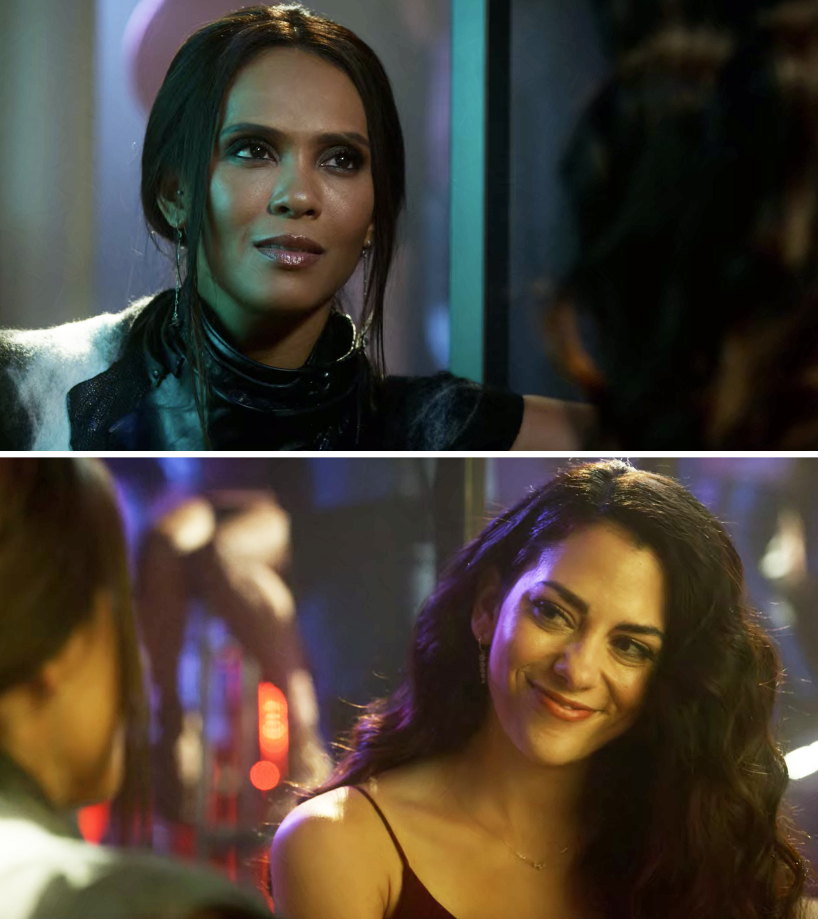 Maze and Eve looking at each other