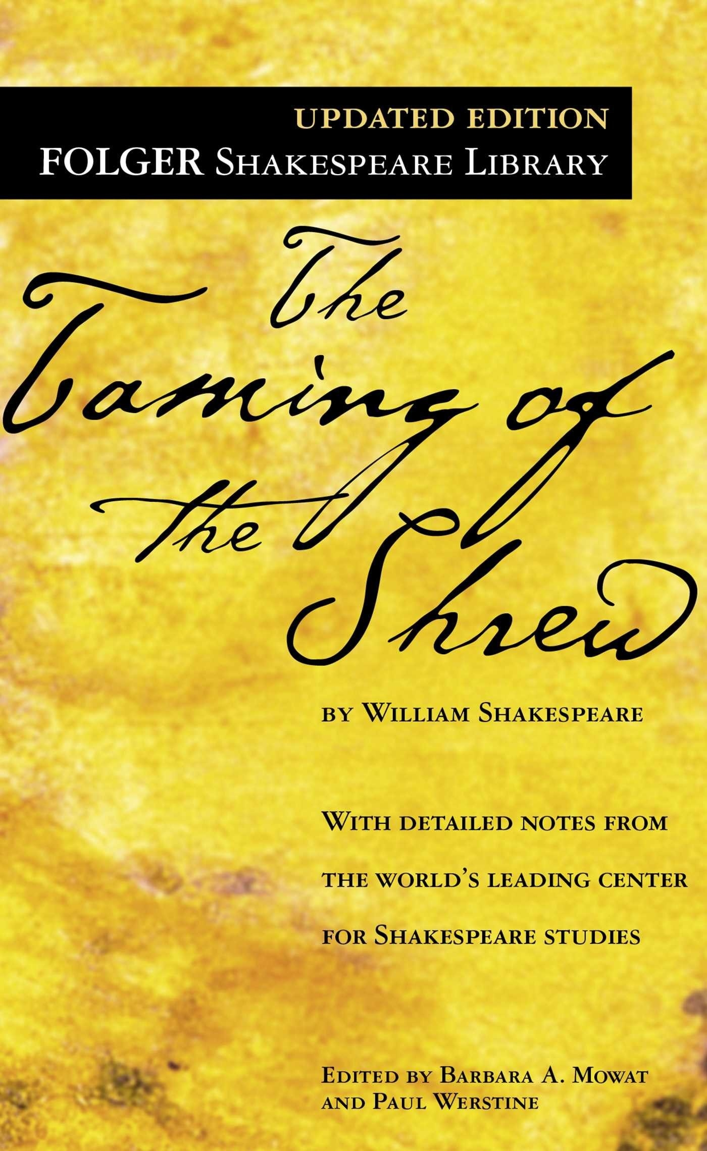 The cover of The Taming of the Shrew
