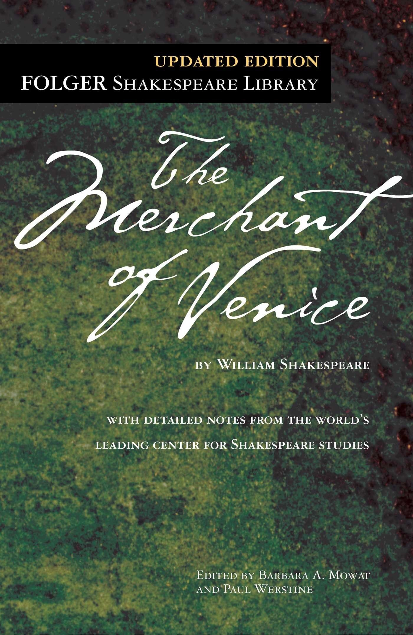 The book cover for The Merchant of Venice