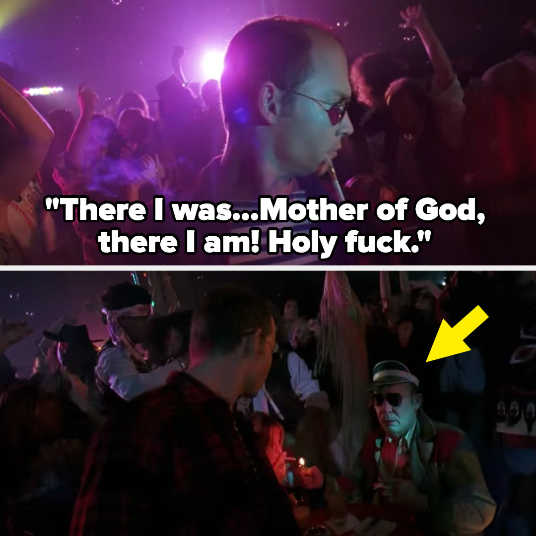 Raoul sees Hunter S. Thompson (his older self) in the matrix club