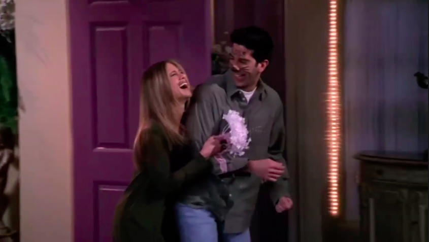 "Ross and Rachel eloping in Vegas in ""Friends"""