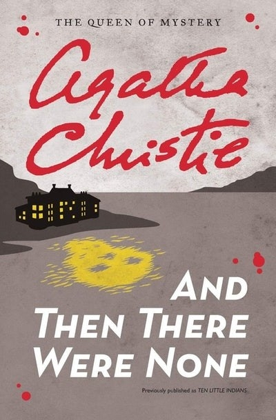 A house on the coast of an island on the cover of And Then There Were None