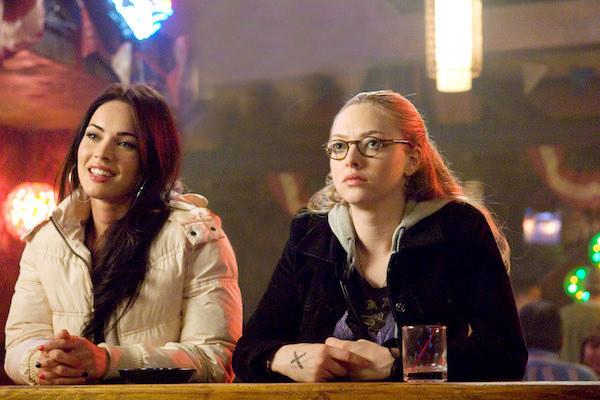 Megan Fox and Amanda Seyfried hanging out at a bar