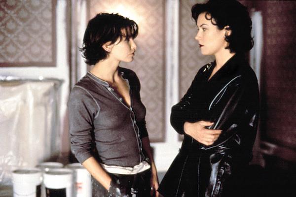 Gina Gershon and Jennifer Tilly having a tense conversation