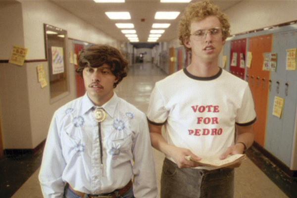 Efren Ramirez and Jon Heder rocking the vote.