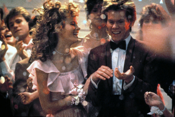 Lori Singer and Kevin Bacon tearing up the dance floor