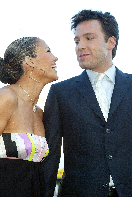 Ben Affleck and Jennifer Lopez at the Daredevil premiere