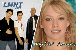 LMNT Juliet cover and Hilary Duff Metamorphosis cover